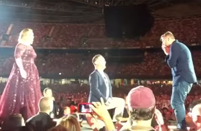 Adele Brings Man on Stage to Propose to His Boyfriend