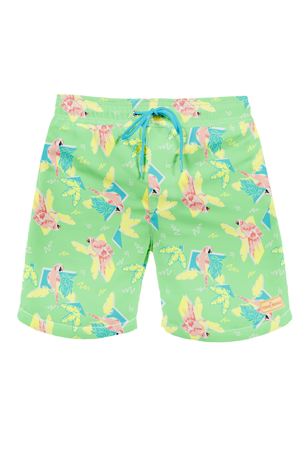 Polly Wanna Party Swim Trunks