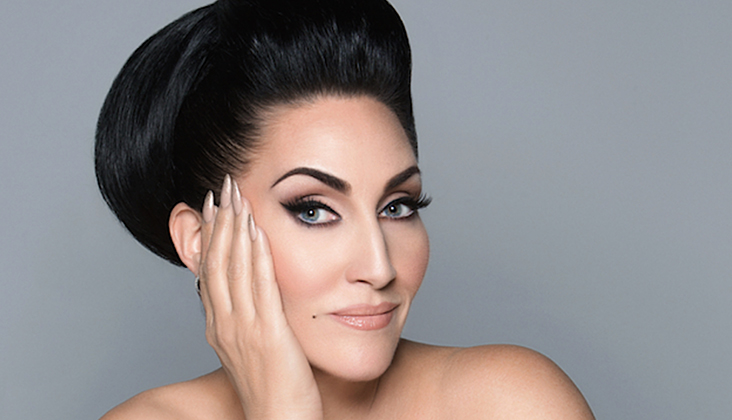Michelle Visage, giving face.