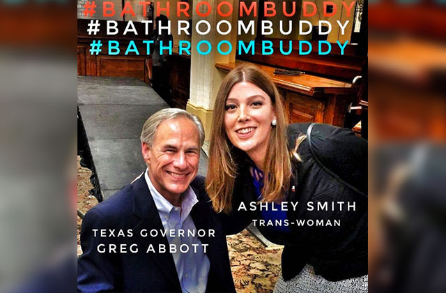 Transgender Texan Posts Photo with Abbott to Decry Bill
