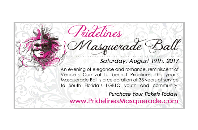 Check Out Pridelines Masquerade Ball This Saturday