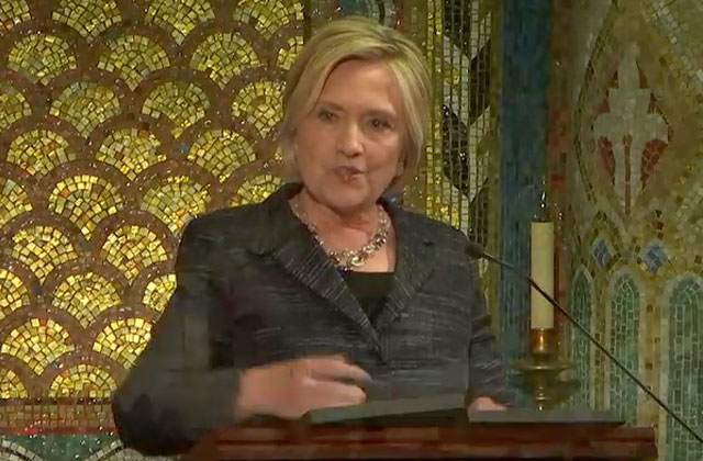 Hillary Clinton Makes Surprise Appearance at Edith Windsor's Funeral