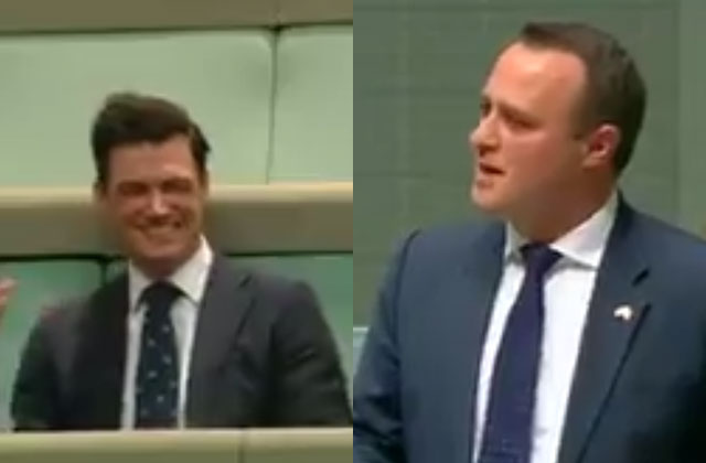 Watch: Lawmaker Proposes During Australian Same-Sex Marriage Debate