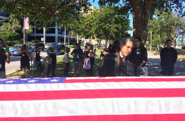 Mock Funeral Held to Protest Trump Inauguration in West Palm