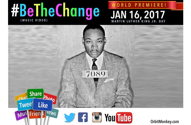 Anti-Hate 'Be The Change' Video Premieres on MLK Day