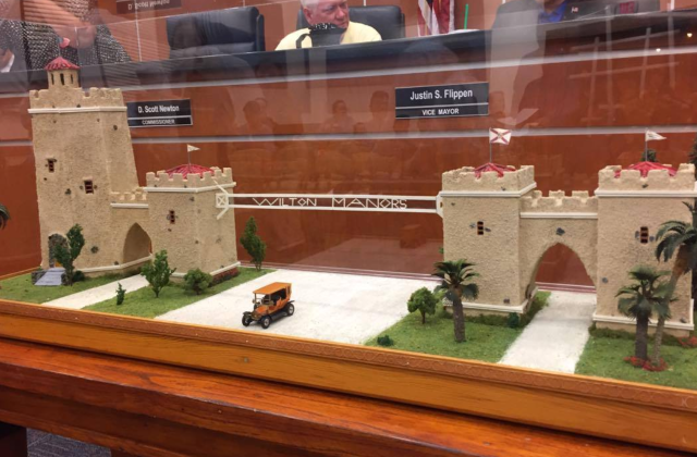 Replica of Wilton Manors Gateway Presented to City