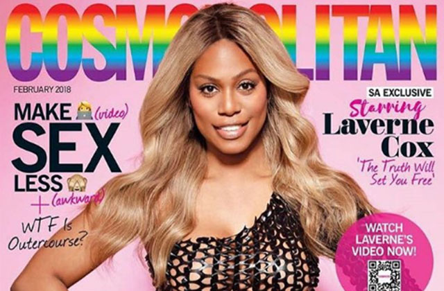 Laverne Cox Becomes First Trans Woman on Cover of Cosmopolitan