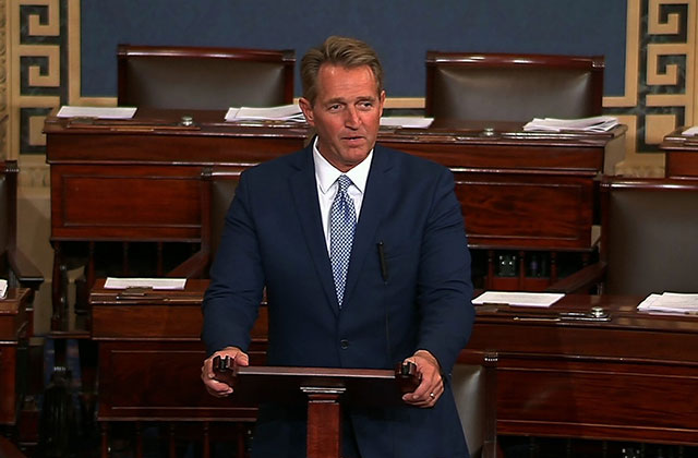 Flake slams Trump for