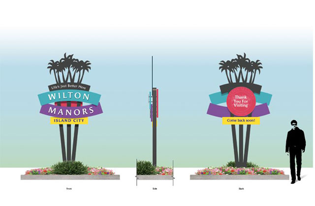 Vote Now on Wilton Manors Wayfinding Sign Concepts