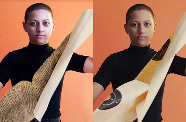Viral image of Emma Gonzalez tearing up Constitution is fake, magazine says
