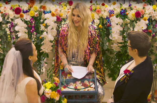 Kesha Officiates Lesbian Marriage in New Music Video