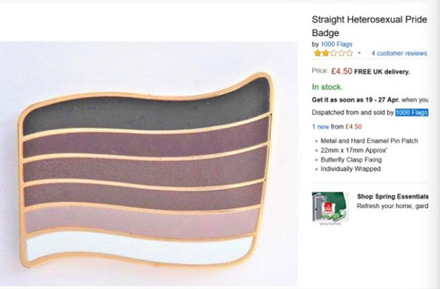 After Sparking Outrage, Amazon Removes 'Straight Pride' Pin from Site