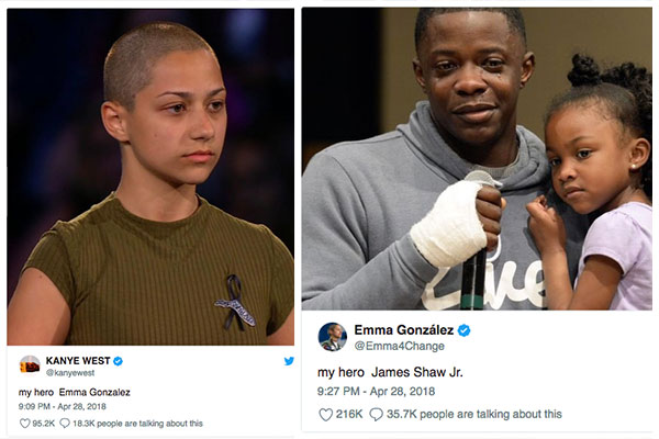 Kanye West Praises Emma Gonzalez But The Feeling Isn't Mutual