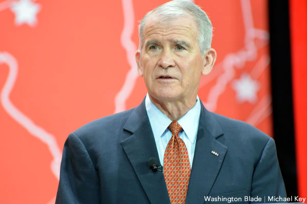 New NRA head Oliver North slams anti-gun activism as 'civil terrorism'