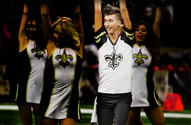 Openly Gay Cheerleader Makes New Orleans Saints Debut