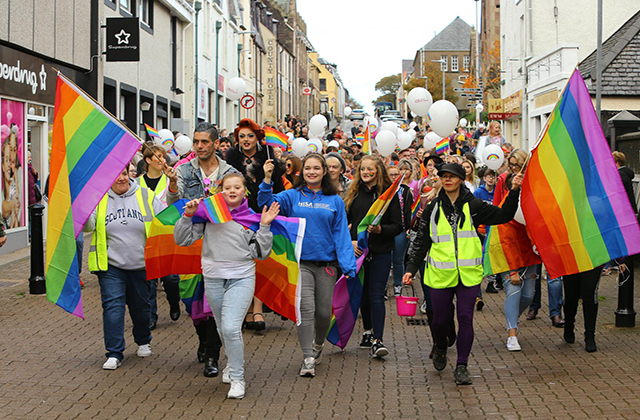 First Ever Pride Parade Takes Place In Stornoway, Scotland