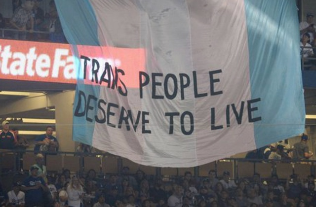 'Trans People Deserve To Live' Banner Flies At World Series