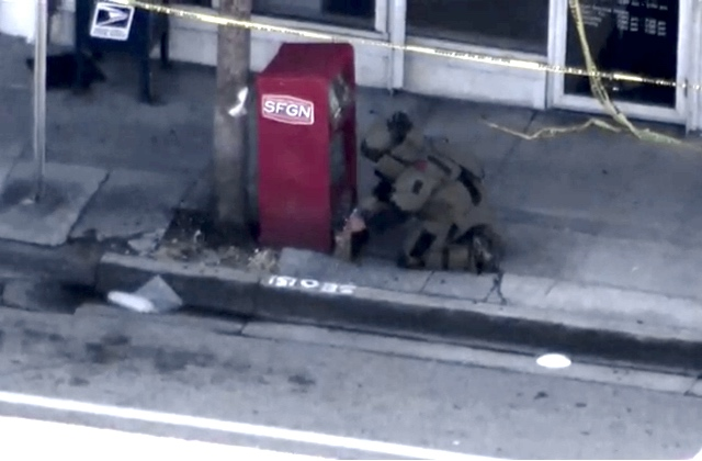 Bomb Squad Investigates 'Suspicious Package' Near SFGN Newsstand