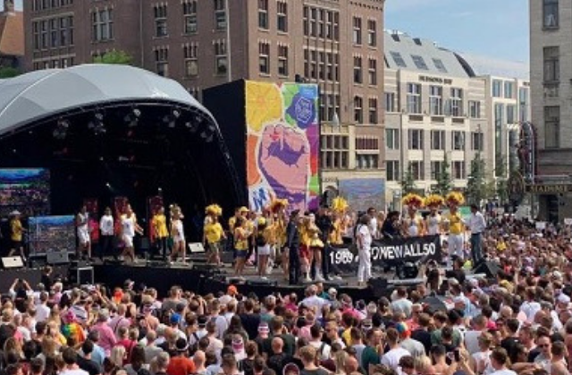LGBTQ Pride Parade in Amsterdam Features Boats as Floats