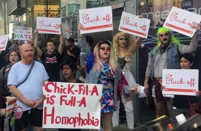 Protest at Chick-Fil-A Opening in Canada Over LGBT Issues