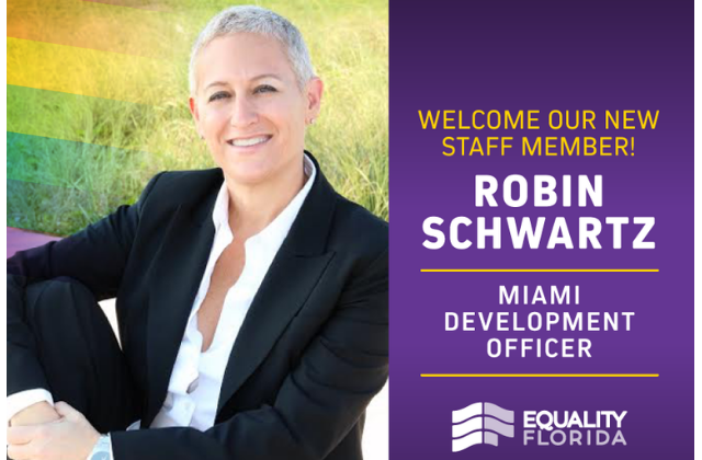 Miami's Robin Schwartz Joins Equality Florida
