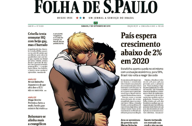 Brazil Paper Publishes Gay Kiss Comic, Defying Censorship