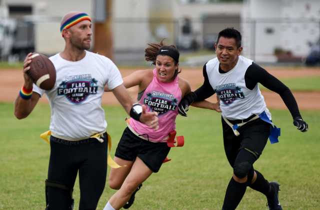 LGBT Flag Football Off to a Roaring Start