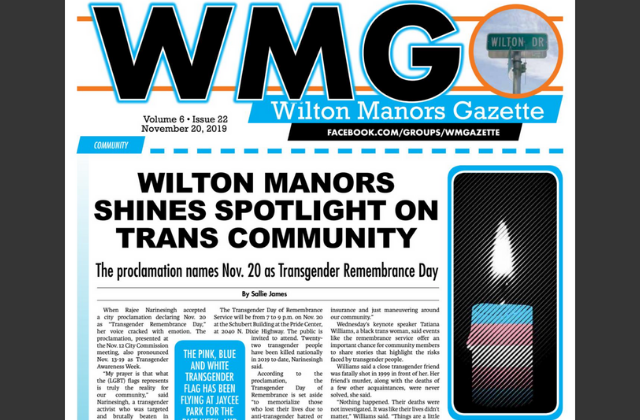 Wilton Manors Gazette: Latest Print Edition