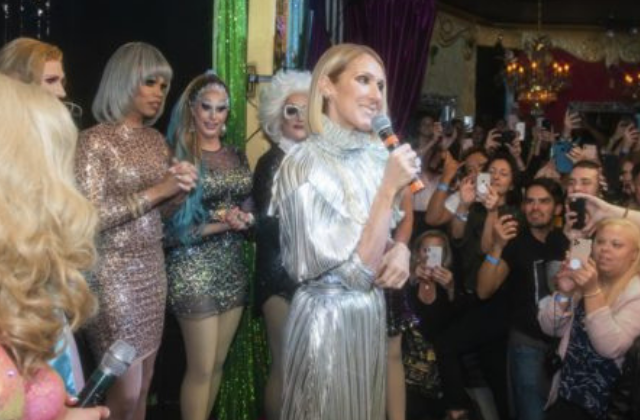 Celine Dion Performs own Song For Surprised Fans at Drag Karaoke in NYC
