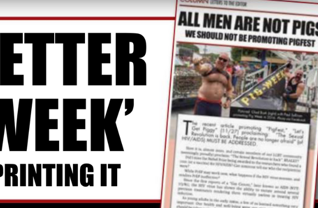 Letter: Readers Slam Letter Opposing 'Pig Week'