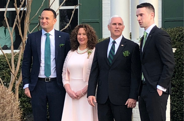 Irish Prime Minister Attends Pence St. Patrick's Day Breakfast With Partner