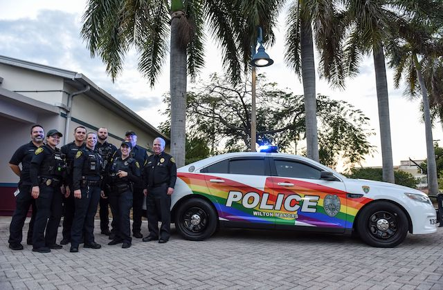 Wilton Manors PD Shows Off Pride with New Rainbow Rider