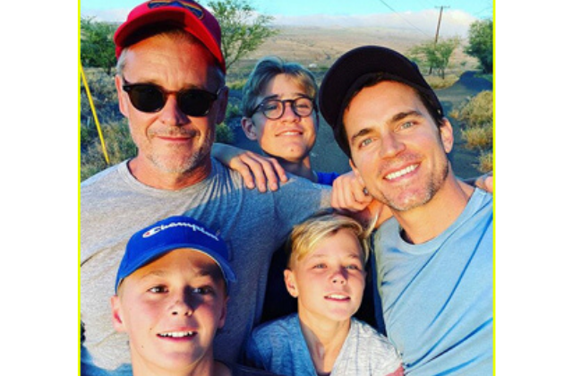 GayVine: Matt Bomer Shares Rare Family Photo