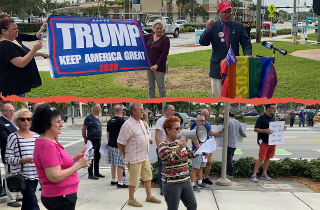 Log Cabin Repubs Rail Against Muslims, Socialism at Wilton Manors Rally