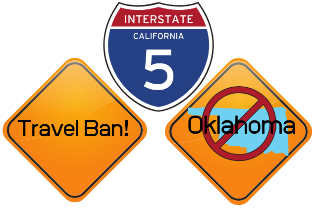 California Bans Travel To Oklahoma