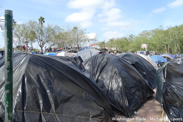 migrant camp in Matamoros Mexico