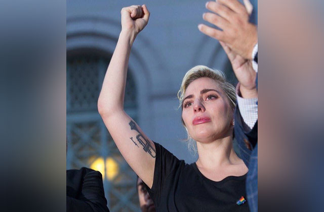 Lady Gaga Gives Emotional Speech at Orlando Vigil in LA