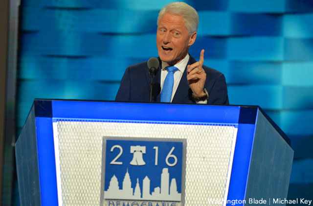 Day Two: Bill Praises Hillary As She Claims Dem Nomination