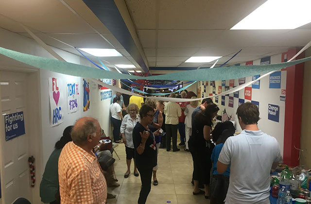 Clinton Campaign Opens Pompano Beach Office