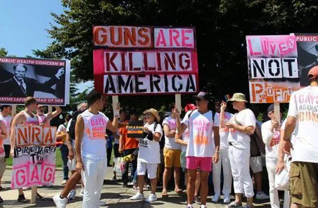 Gays Against Guns Stage Die-In at Lincoln Memorial and Marched to the NRA Office