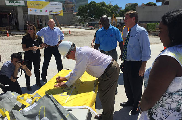 Brightline Tops Out Fort Lauderdale Station