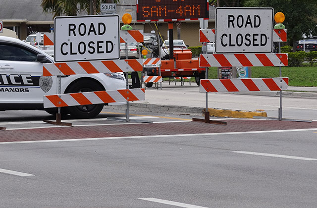 Stretch of Busy Sunrise Boulevard in Fort Lauderdale Scheduled to be Closed until Friday Evening