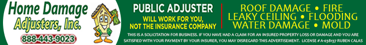 Home Damage Adjusters Top Banner August