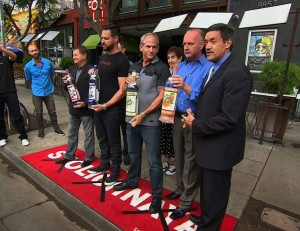 "protesters participate in a russian ""vodka-dumping"" demonstration at micky's, a gay bar in west hollywood, california on thursday, august 1, 2013. this is in response to russia's anti-gay propaganda law that is gathering speed. (cnn)"