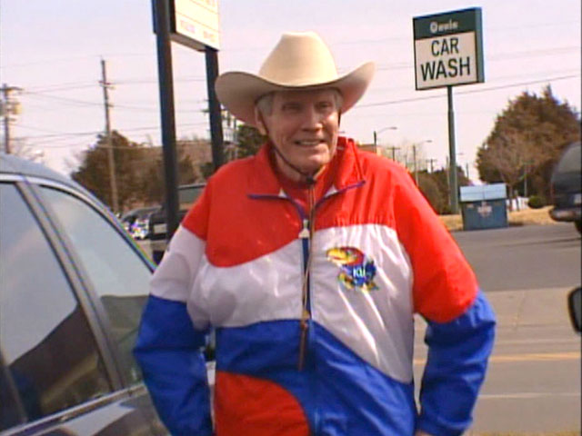 Fred Phelps, founder of Westboro Baptist Church, is seen in this undated still photo taken in Dallas, Texas. (CNN)