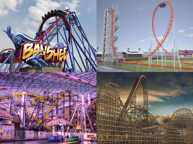 The crazy roller coasters of the 2014 theme park season.
