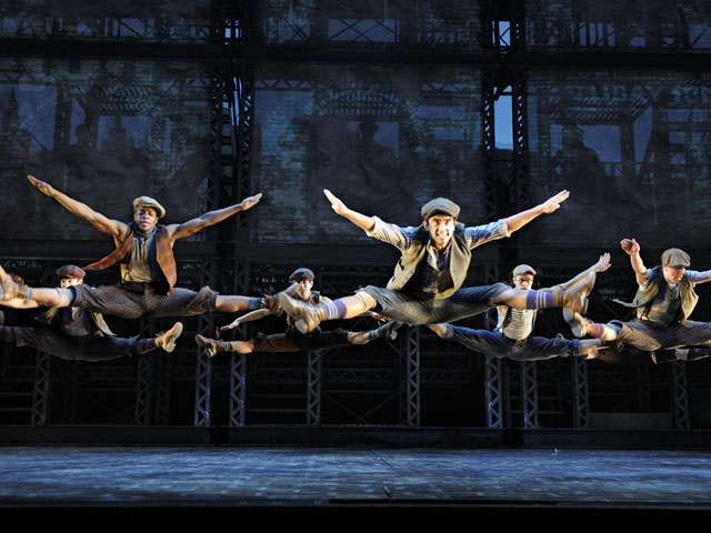 "Disney's ""Newsies,"" based on the popular film about newspaper delivery boys during the Depression, is one of the new musical productions coming to South Florida during the 2014-15 season. Credit: Deen van Meer"
