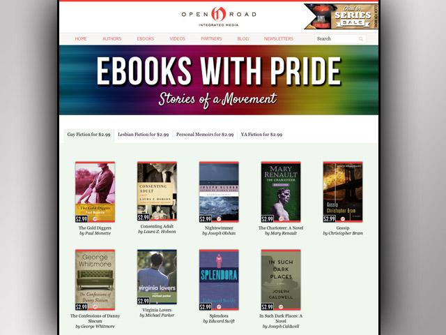 Classic LGBT Authors Featured in Pride E-Books