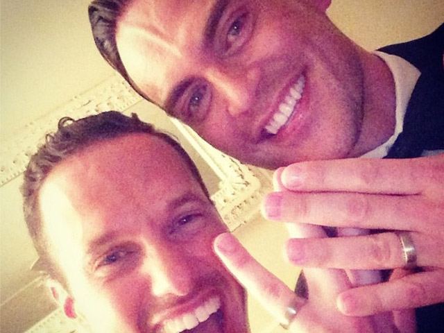'Glee' Star Cheyenne Jackson Marries Partner