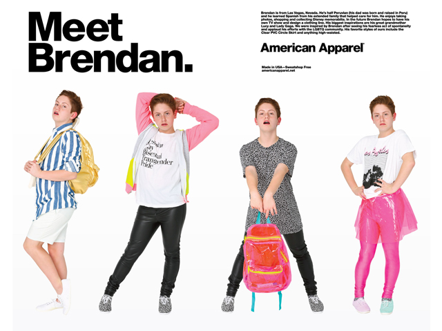 American Apparel Makes Model of 'Little Monster' Brendan Jordan